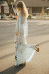 'HEART ON THE FLOOR' - HAND EMBROIDERED DUSTER & MAXI DRESS - ICE MINT