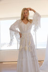 FILLYBOO - 'LITTLE BEAR' - HAND EMBROIDERED MAXI DRESS - IVORY/IVORY
