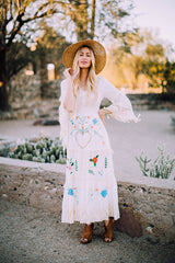 FILLYBOO - 'LITTLE BEAR' - HAND EMBROIDERED MAXI DRESS - IVORY