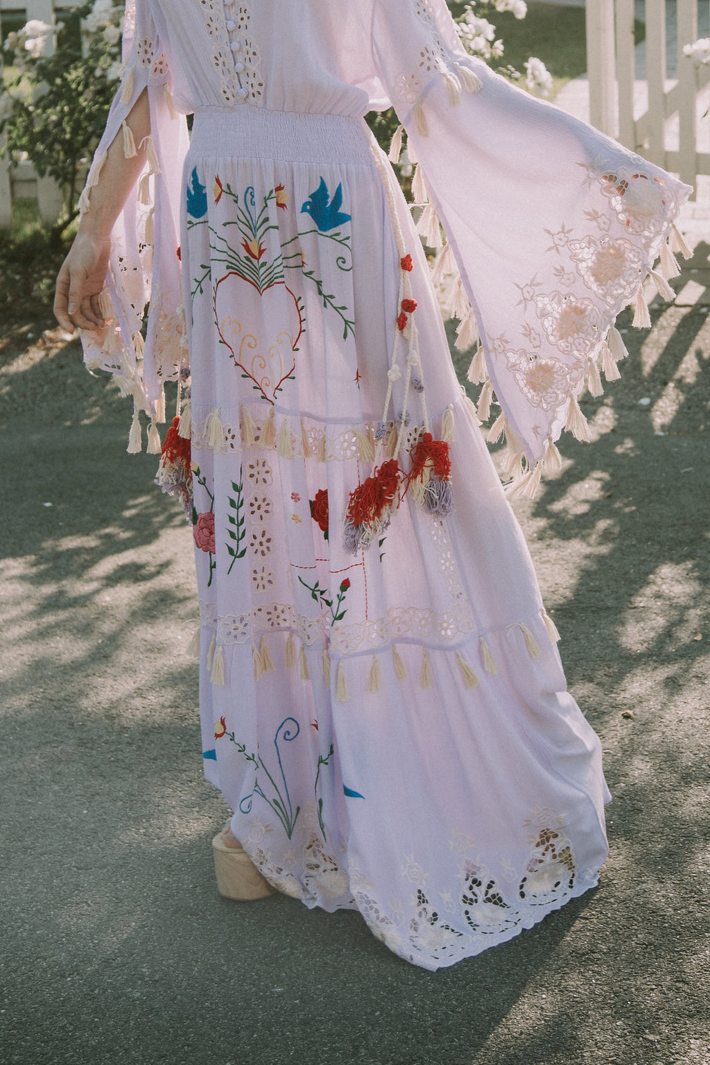 LITTLE BEAR' - HAND EMBROIDERED MAXI DRESS