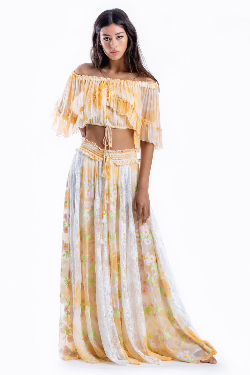 Love Street Set - Top & Skirt in Apricot