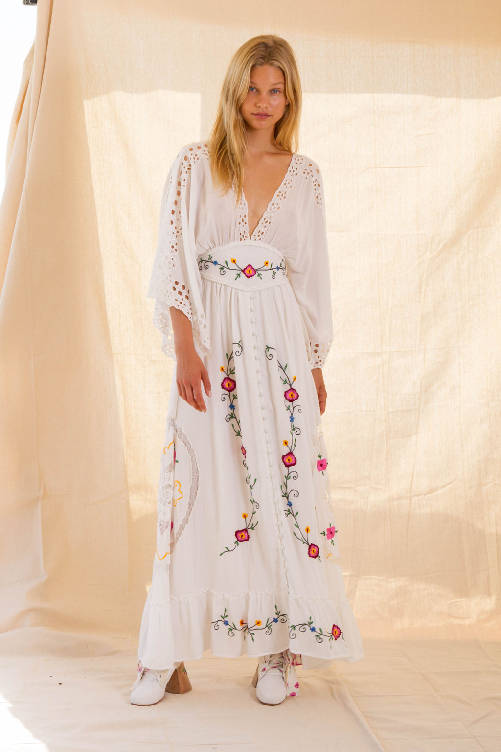 LOVE NOTE' KIMONO MAXI DRESS