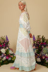 Carnival Smocked Maxi Dress - Lagoon