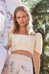 Margot - knitted crop top in Vanilla