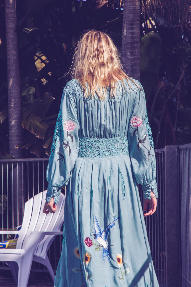 MY NAME IS ROSE' - EMBROIDERED DUSTER/MAXI DRESS