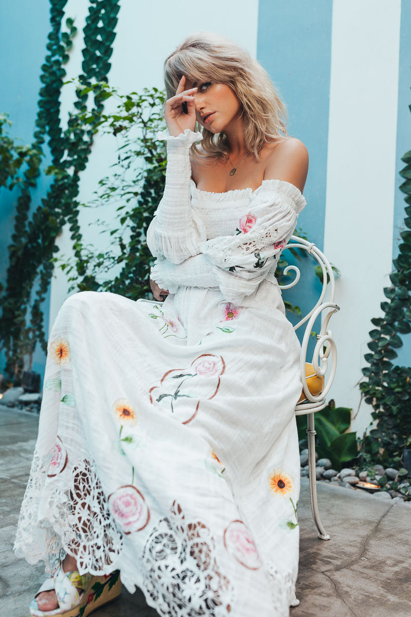 Fillyboo - Norwegian Wood - Embroidered Maxi Dress