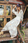 Fillyboo - Once Upon A Song - Embroidered maxi dress & duster