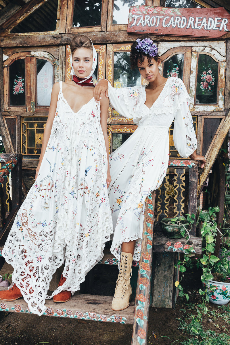 Once Upon A Song - Embroidered maxi dress & duster