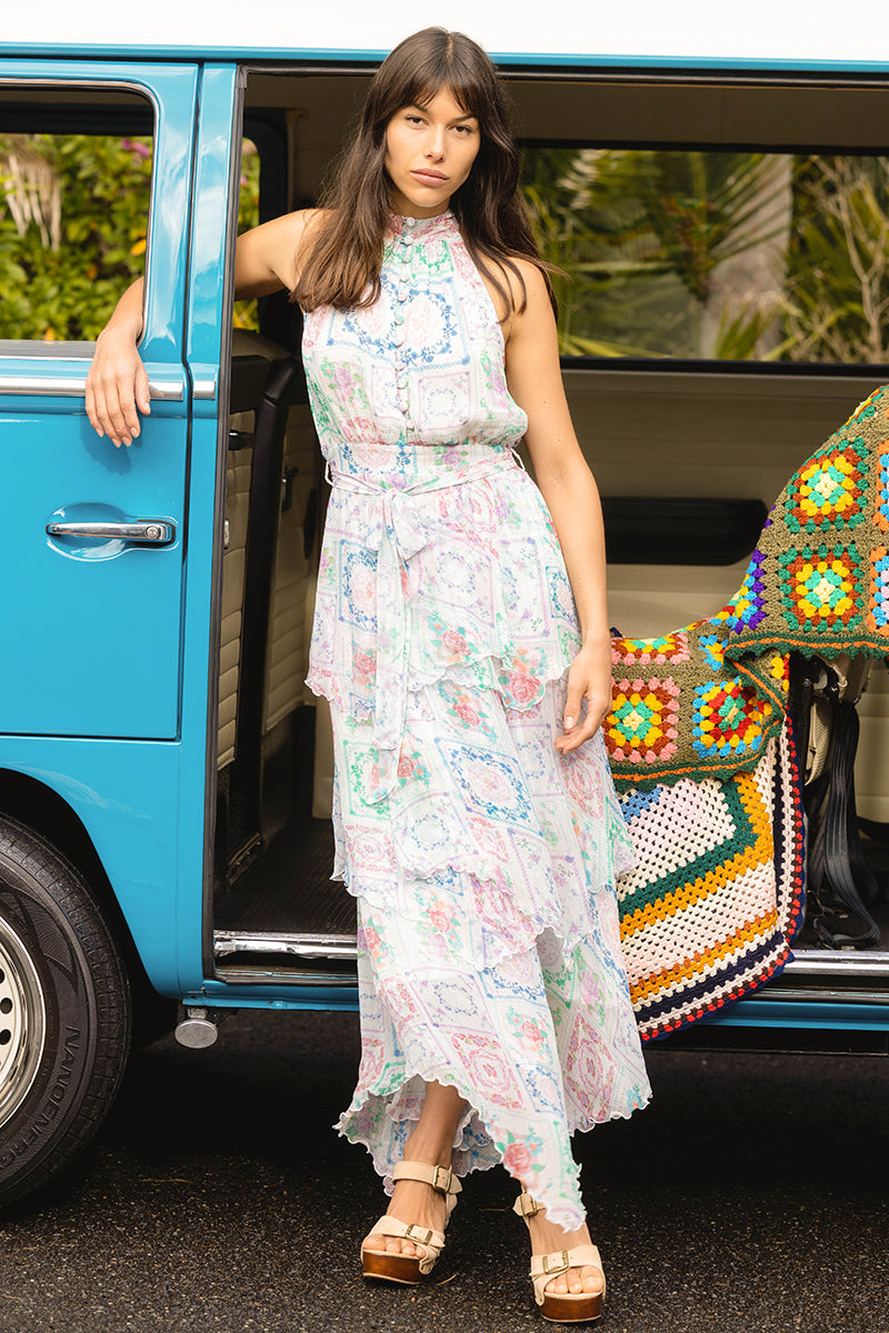Patchwork People - Halterneck Maxi Dress
