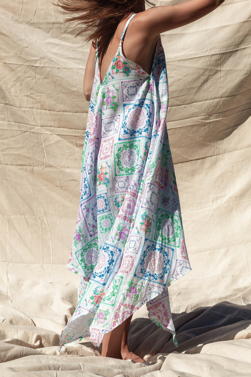 Patchwork People - Trapeze maxi dress