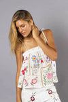 FILLYBOO - 'PATCHWORK PEOPLE' CAMISOLE - IVORY