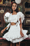 Penzance - Handmade embroidered top & skirt set