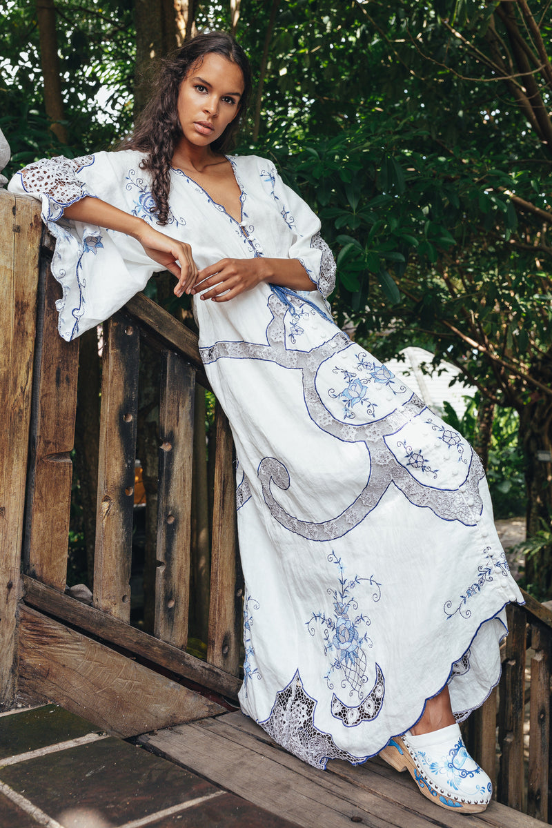 Pretty Poison - Maxi dress/duster in blues