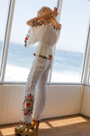 'QUEEN OF HEARTS' - EMBROIDERED PANTS