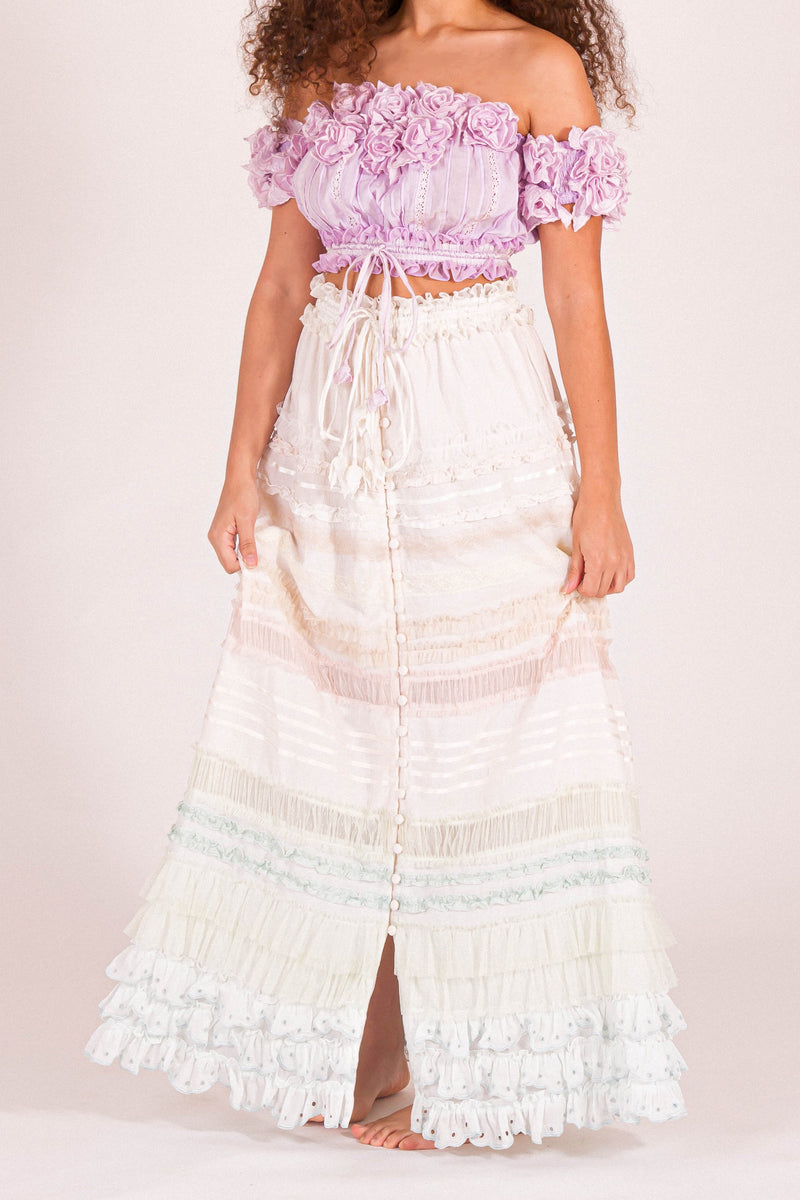 Ribbon Sky - Maxi Skirt