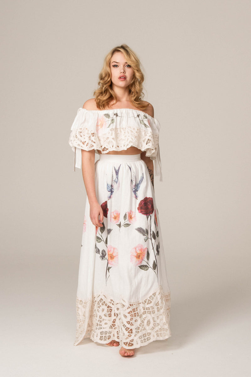'ROSES LATELY' - EMBROIDERED SKIRT