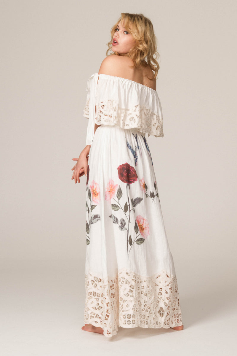 'ROSES LATELY' - EMBROIDERED TOP AND SKIRT SET