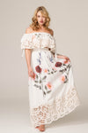 FILLYBOO - 'ROSES LATELY' - EMBROIDERED TOP AND SKIRT SET