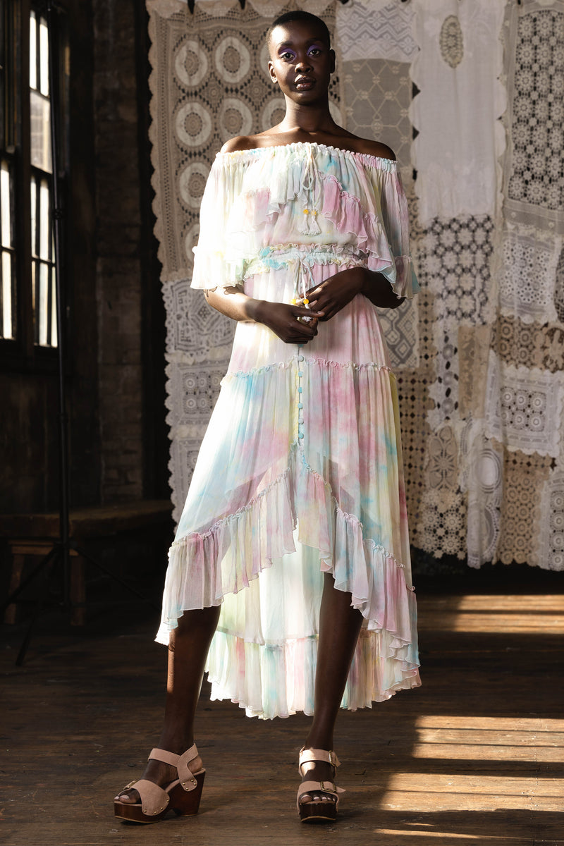 Santa Monica - Tambourine Maxi Dress in Pastel