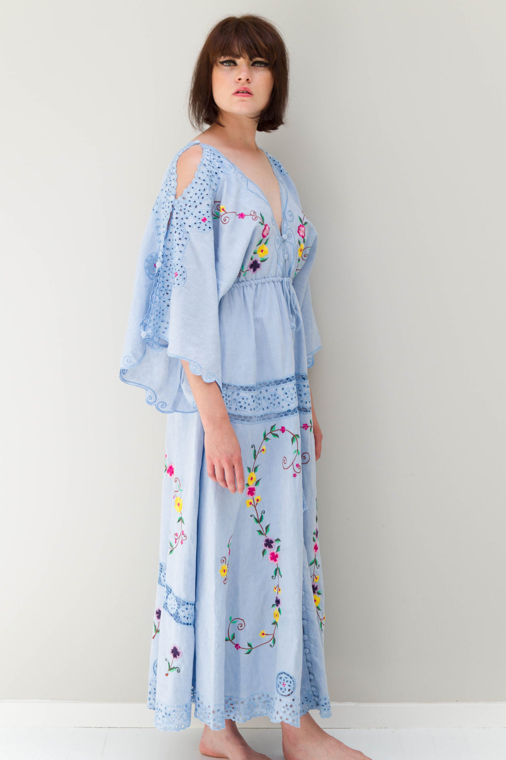 FILLYBOO - 'SIXPENCE' - REVERSIBLE DUSTER/GOWN - CHAMBRAY