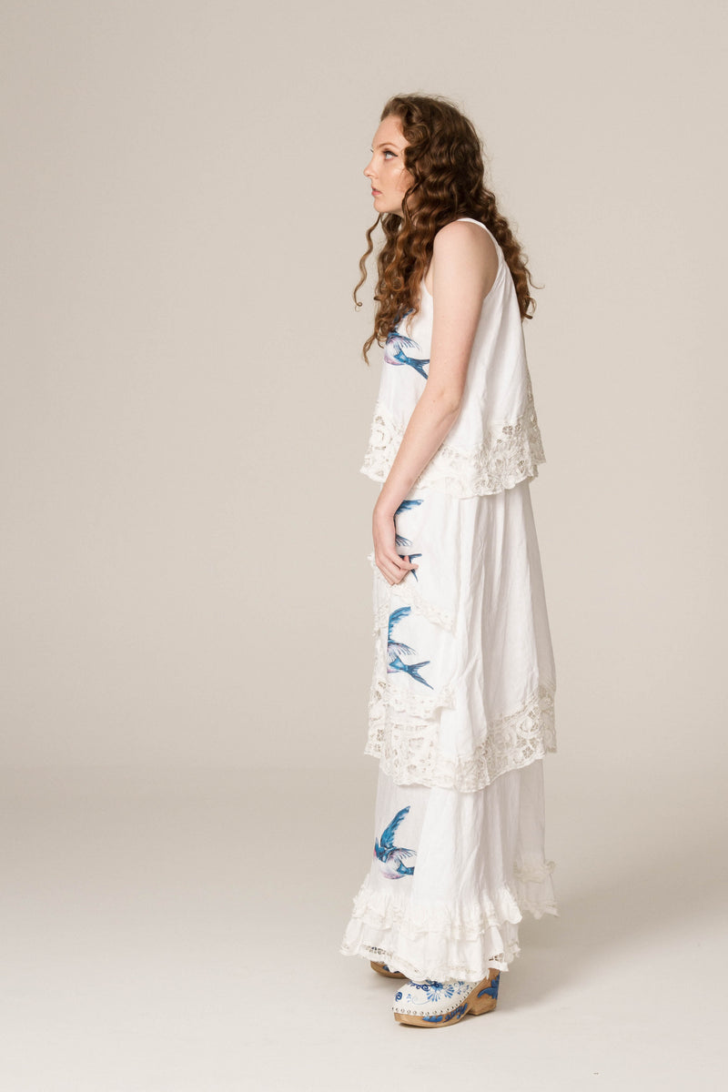 'SOMEDAY SOON' - HAND EMBROIDERED TRAPEZE DRESS