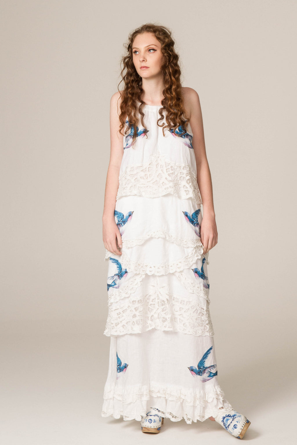 SOMEDAY SOON' - HAND EMBROIDERED TRAPEZE DRESS