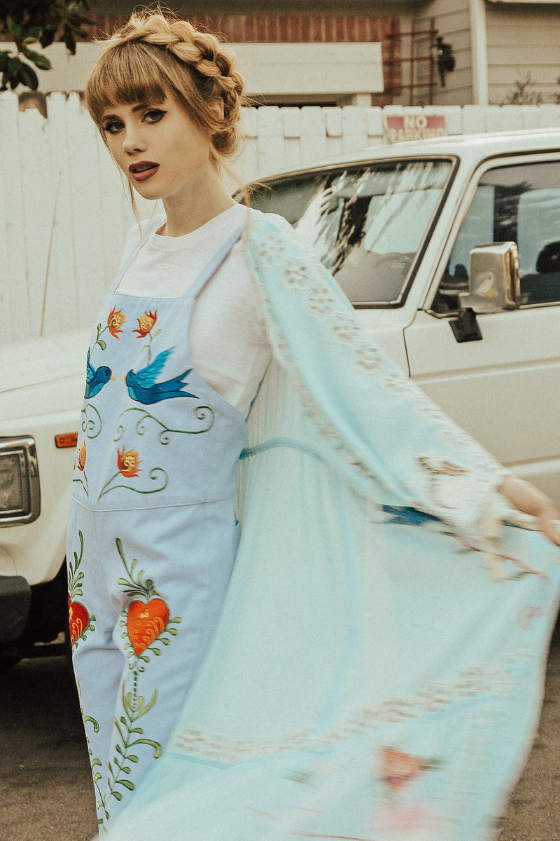 'STRANGE MAGIC' PINAFORE OVERALLS - CHAMBRAY