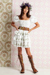 Sweet Pea - Cascading Mini Dress in Ivory