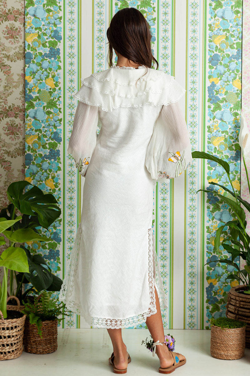 Sweet Pea - Lotus Day Dress in Ivory