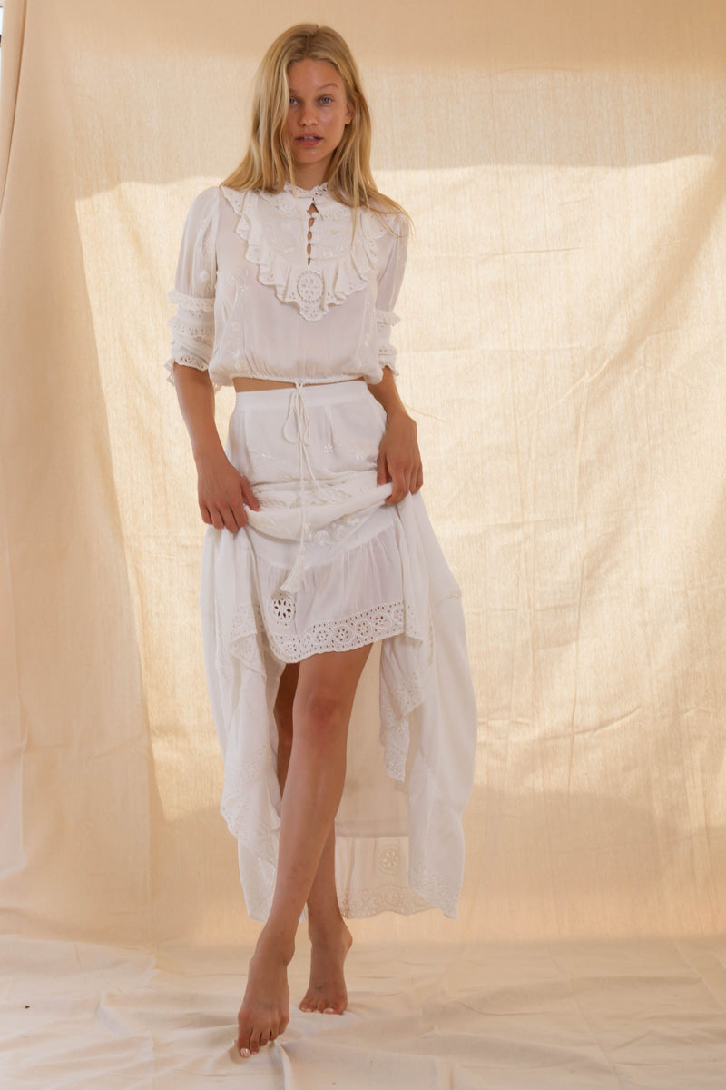 FILLYBOO - 'TAMBOURINE' - TOP & SKIRT SET - IVORY