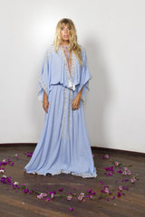 FILLYBOO - 'I BELIEVE IN UNICORNS' GOWN - POWDER BLUE