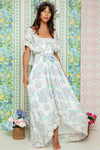Wonder Years - Embroidered Gown in Hydrangea