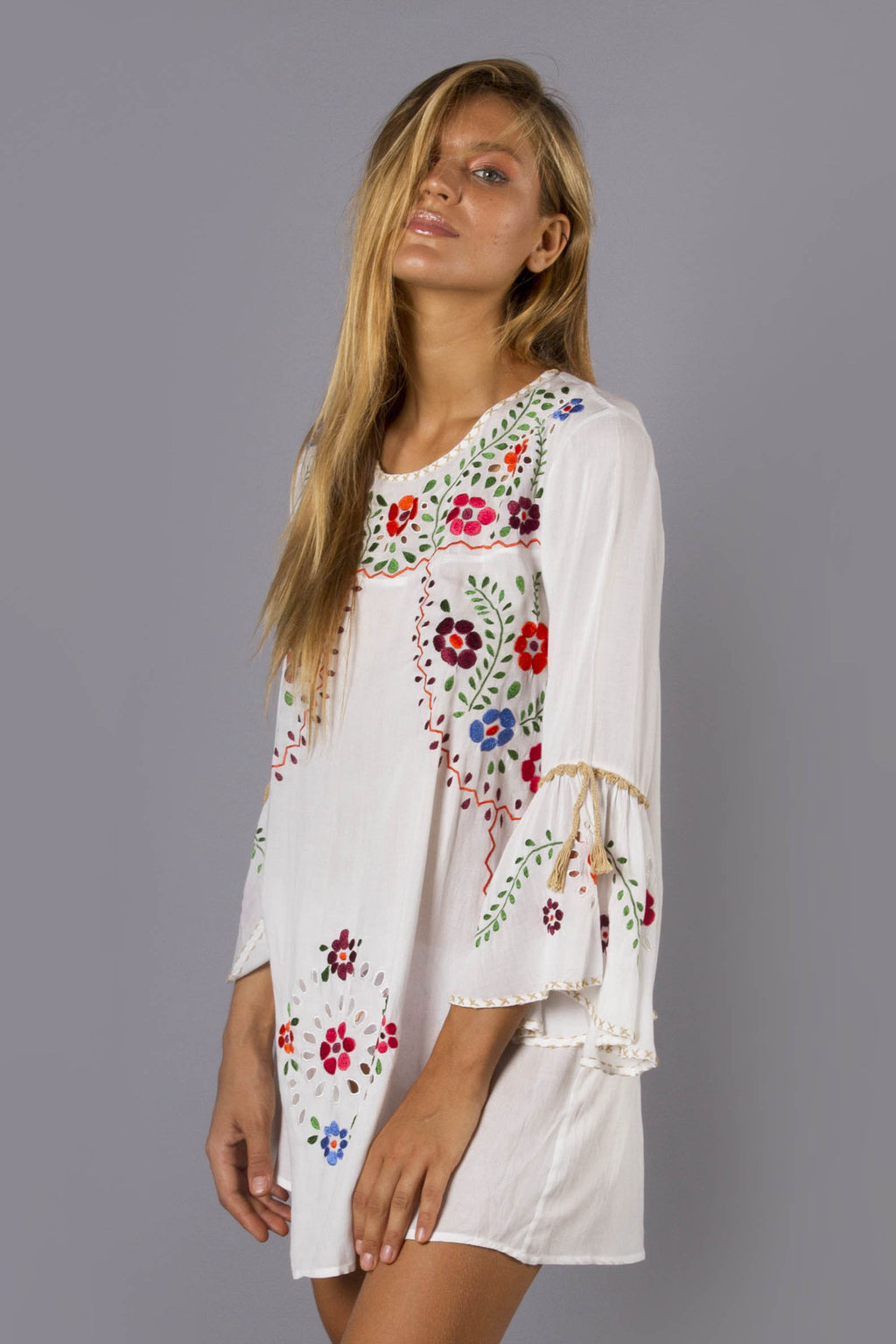 FILLYBOO - 'WOODSTOCK' MINI DRESS - IVORY