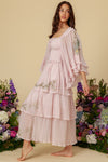Sweet Pea - Cascading Maxi Dress in Orchid Ice