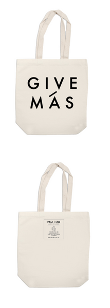 GIVE MÁS CANVAS TOTE