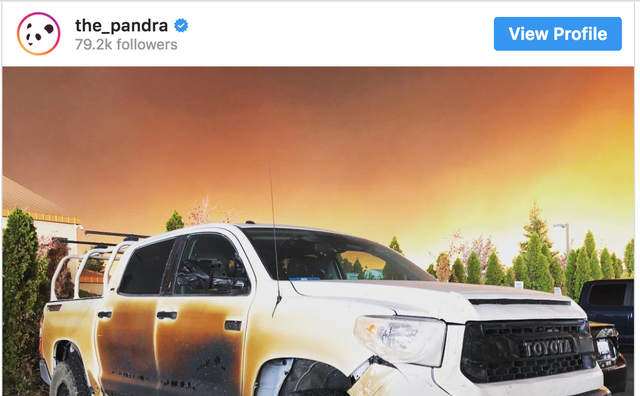 Pandra's Park Fire Tundra on Display at Toyota Corporate HQ
