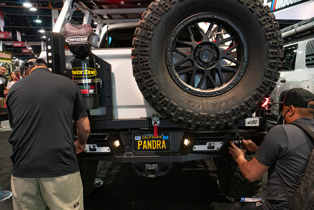 The Pandra truck at DECKED Sema booth
