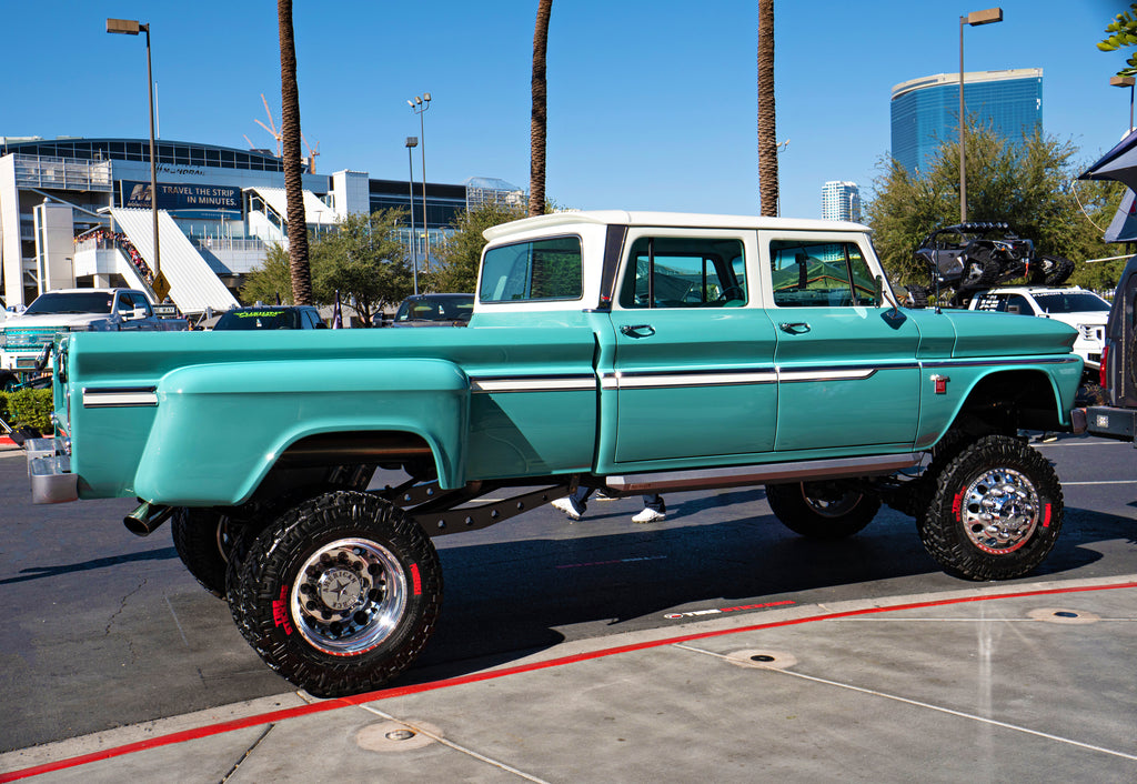 Re-done old turquoise truck