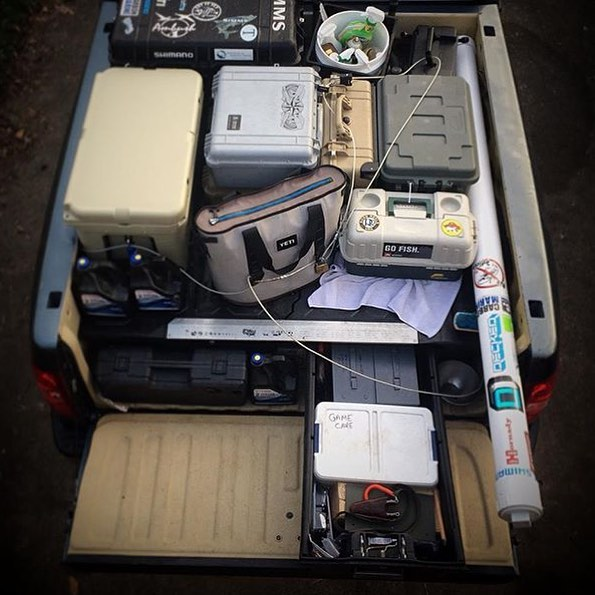 """Scott Sommerlatte is a professional guide and not one to leave home without """"it"""". His DECKED system is dialed to the nines neatly organizing all of his gear for a day on the water with his clients."""