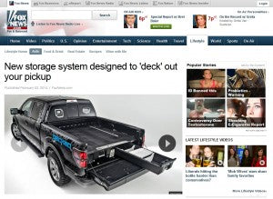 FoxNews.com features story about DECKED truck bed storage system