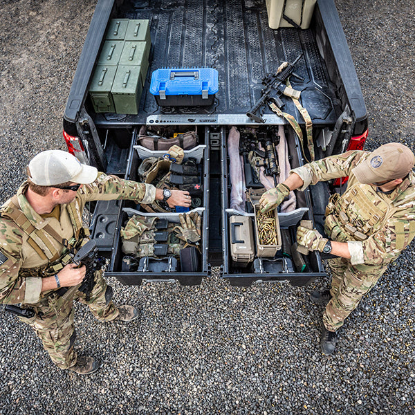 decked secure weapon storage truck bed