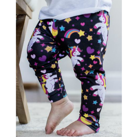 READY TO SHIP - Unicorn Leggings on Black
