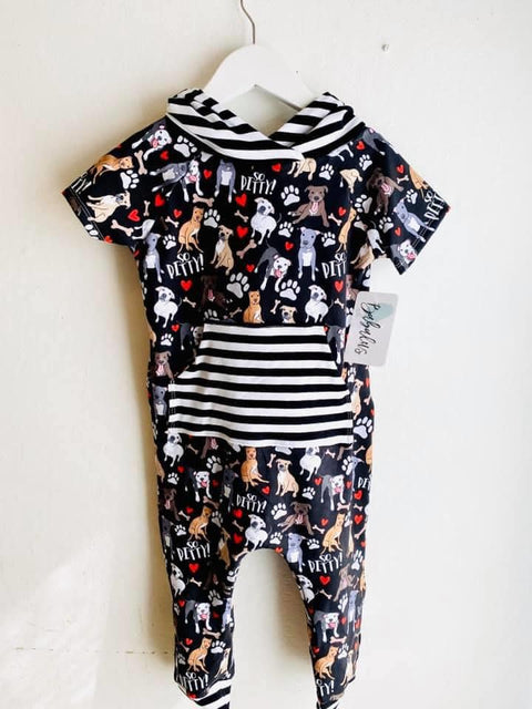 So Pitty on Black Pants Romper