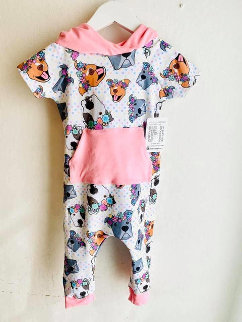 Polka Pitty and Pink Pants Romper