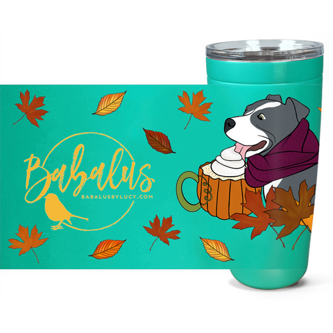 Fall Pitbull Travel Mug