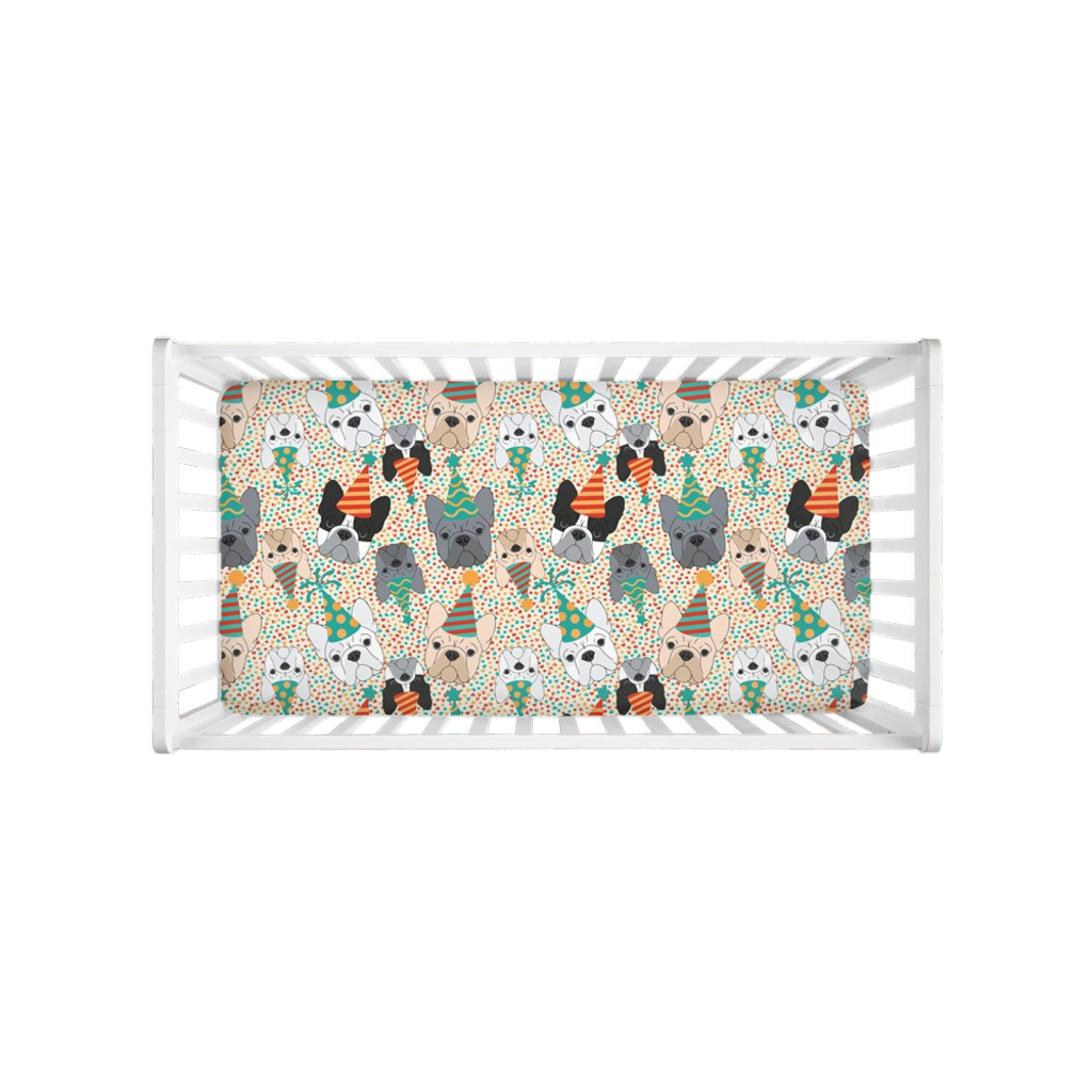 French Bulldog Party Crib Sheet