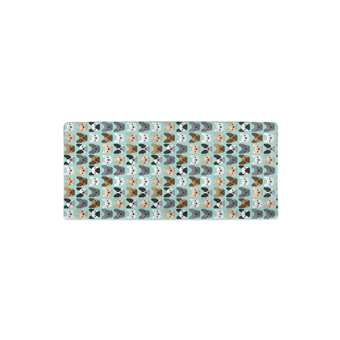 French Bulldogs on Blue Changing Pad Cover