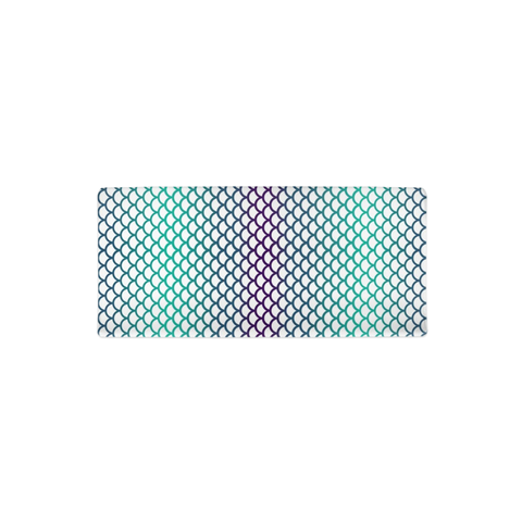 Mermaid Scales Teal Purple Changing Pad Cover