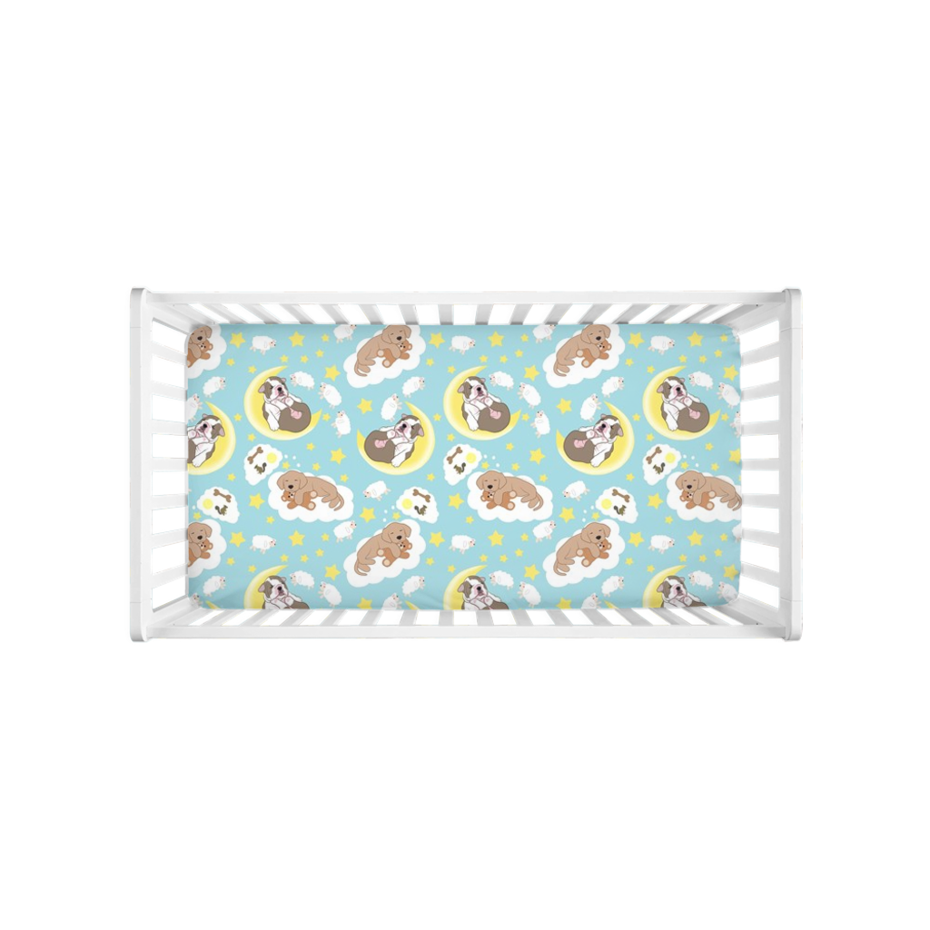 Sleeping Puppies Crib Sheet