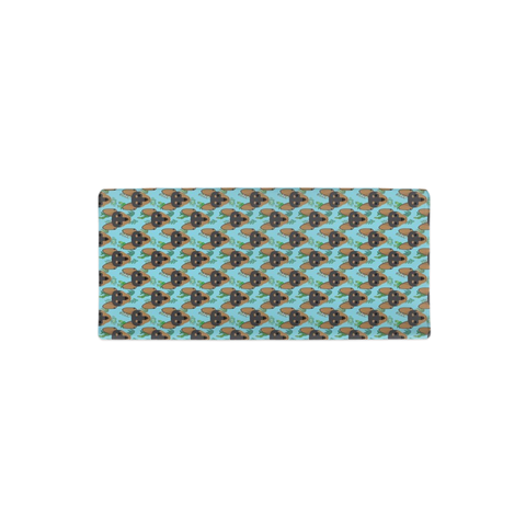 Miniature Pinscher Min Pin Aqua Succulent Changing Pad Cover